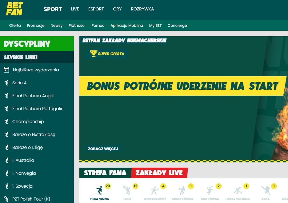 betfan.pl - bukmacher online w Polsce