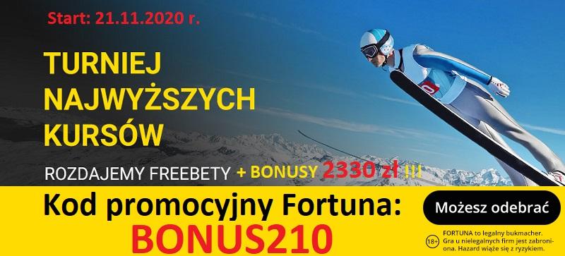 Turniej skoki narciarskie i kod promocyjny Fortuna - sponsor PZN